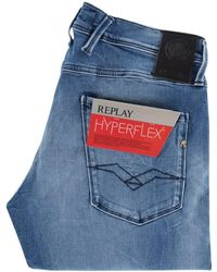 Replay - Light Blue Super Stretch Hyperflex Jeans M914 661 808 - Lyst