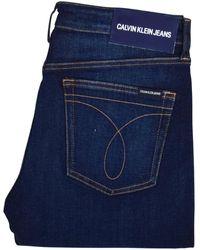 Calvin Klein Dark Blue Slim Taper Jeans