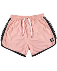 Kappa - Pink/black Swim Shorts - Lyst