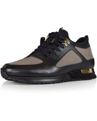 MALLET FOOTWEAR - Diver Black/gold Trainers - Lyst