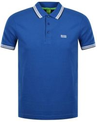 BOSS Athleisure - Blue 'paddy' Logo Polo Shirt - Lyst