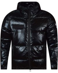 True Religion - Black Padded Jacket - Lyst