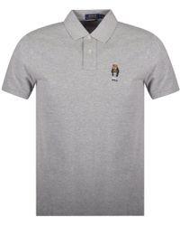 Polo Ralph Lauren - Grey Bear Polo Shirt - Lyst