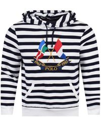 Polo Ralph Lauren - Blue/white Striped Yacht Club Pullover Hoodie - Lyst