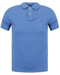 Polo Ralph Lauren - Mid Blue Heather Polo Shirt - Lyst