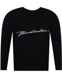 Blood Brother - Black Chest Logo Sweatshirt - Lyst