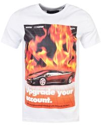Blood Brother - White Flames T-shirt - Lyst