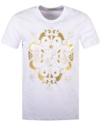78e9071b Lyst - Versace Jeans Foil Graphic T-shirt in White for Men
