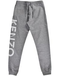 KENZO - Grey Logo Joggers - Lyst