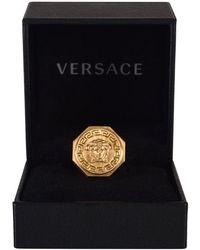 Versace - Greca And Medusa Ring - Lyst