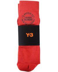 Y-3 - Red Tube Socks - Lyst