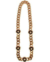Versace - Gold Medusa Coin Necklace - Lyst