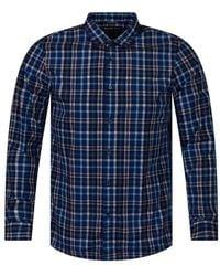 Michael Kors - Blue/white Check Shirt - Lyst