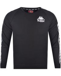 Kappa - Black Tape Detailed Sweatshirt - Lyst