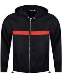 66f8ccdaac2b Givenchy - Black red Horizontal Stripe Logo Jacket - Lyst