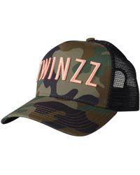 TWINZZ - Camo / Coral Mesh Trucker Cap - Lyst