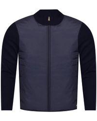 Aquascutum - Navy Wise Panelled Funnel Jacket - Lyst