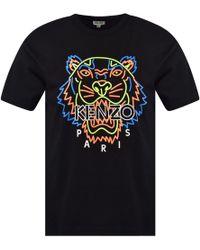 KENZO - Tiger Head Print T-shirt - Lyst