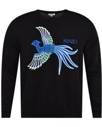 0bd7639630a KENZO 'flying Tiger' Sweater in Black for Men - Lyst