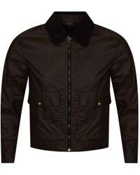 Belstaff - Mentmore Faded Olive Zip Up Jacket - Lyst