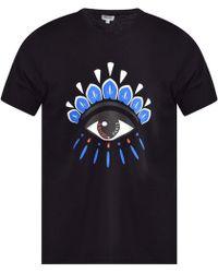 085cec1f91e0 KENZO Black All-over Eye T-shirt in Black for Men - Lyst