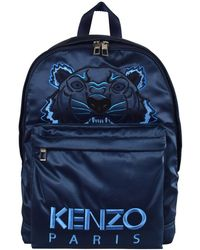 9c52301fc KENZO - Blue Holiday Capsule Satin Tiger Backpack - Lyst