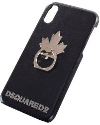 DSquared² Black Maple Leaf Iphone X Case