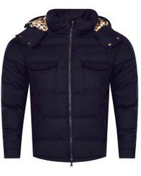 Aquascutum - Navy Orson Detachable Hooded Jacket - Lyst