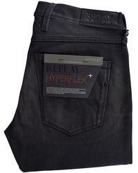 Replay - Black Anbass Slim Jeans - Lyst