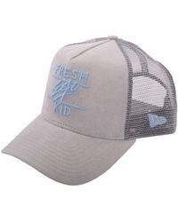 Fresh Ego Kid - Grey/blue Suede Mesh Trucker Cap - Lyst