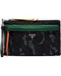 3eff1f6a3d7 Prada Camouflage Nylon Toiletry Kit in Black for Men - Lyst