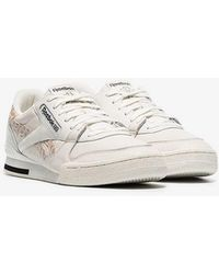 Reebok - White Phase 1 Low Top Leather Trainers - Lyst