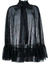 Philosophy - Crochet Ruffle Cape - Lyst