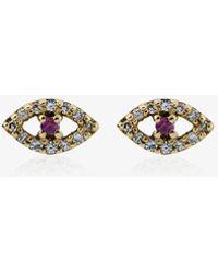 Ileana Makri - Diamond, Ruby & Rose-gold Earring - Lyst