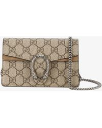 ca246786a Gucci Dionysus GG Supreme Embroidered Shoulder Bag in Gray - Lyst