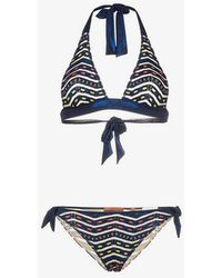 27204add10 Missoni - Mare Halterneck Zigzag Lurex Bikini - Lyst