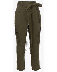 Saint Laurent - Laced Military Pants - Lyst