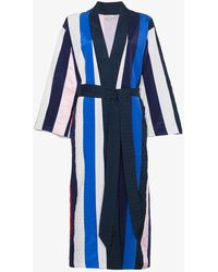 Natasha Zinko - Striped Midi Robe - Lyst