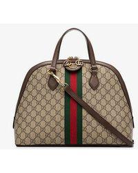 0657a336344d Gucci - Beige Ophidia GG Medium Top Handle Bag - Lyst