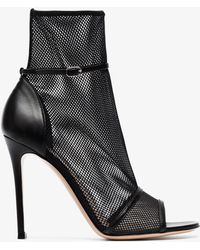 Gianvito Rossi - 105 Idol Mesh High Heeled Boots - Lyst