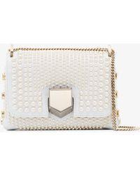 Jimmy Choo - White Lockett Pearl Studded Mini Bag - Lyst
