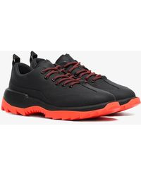 Camper - Black And Orange Helix Leather Low-top Trainers - Lyst