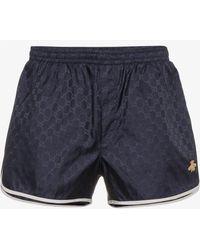 Gucci - Gg Monogram Swim Shorts - Lyst
