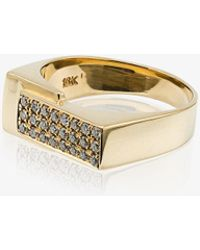 Lizzie Mandler | Pave Diamond Overlap Pinky Ring | Lyst