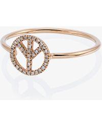 Rosa De La Cruz - Diamante Peace Ring - Lyst