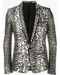 Haider Ackermann Animal Pattern Blazer - Black