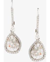 Saqqara - Diamond Tear-drop Earrings - Lyst