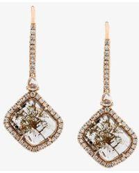 Saqqara - Diamond Drop Earrings - Lyst