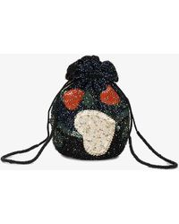 Ganni - Benson Multi-beaded Drawstring Purse - Lyst