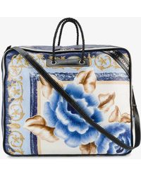 Balenciaga - Blanket Square Extra-large Leather Tote - Lyst